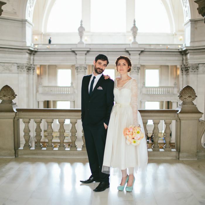 ROBYN + JAMIE'S CITY HALL WEDDING